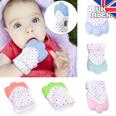 Baby Silicone Mitts Teething Mitten Teething Glove Candy Wrapper Soft Teether -1