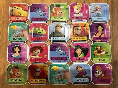 Woolworths...disney Words...tiles....complete Your Set...woolies...$2 Each....