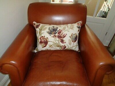 Laura Ashley Distressed Leather Armchair / Chair