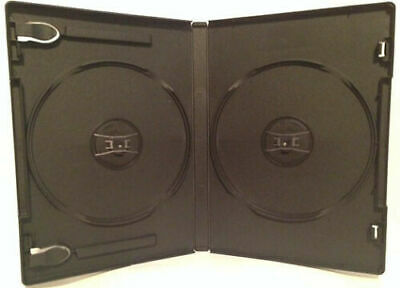 New 4Pc Premium Black Double Dvd/cd Case With