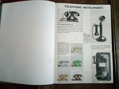 Telephone Services Book dating from 1920/30's not GPO bakelite candlestick Rare