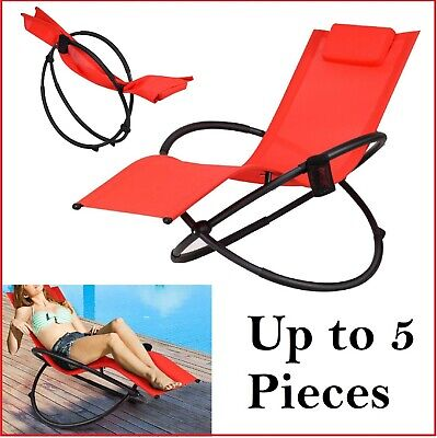 Zero Gravity Rocking Chair Outdoor Lounge Chairs Foldable Deck Patio Porch Seat