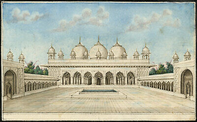 Moti Masjid Pearl Mosque, Agra Fort – Early 19th-century Indian Company painting