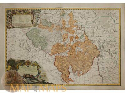 Principatus Silesia Old map Poland Central Europe Homann 1738