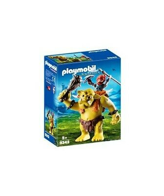 H0705 GUERRIERO CON TROLL GIGANTE PLAYMOBIL KNIGHTS 9343