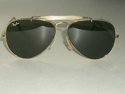 d3e225e9bc 1980 s CIRCA 58  14MM VINTAGE B L RAY-BAN GP G15 OUTDOORSMAN AVIATOR  SUNGLASSES
