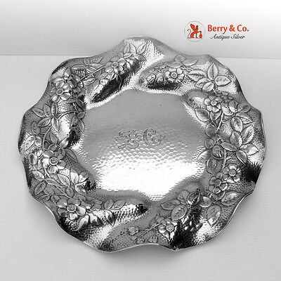 Serving Plate Honey Combed Sterling Silver Gorham 1886
