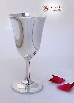 Water Wine Goblet Wallace 14 Sterling Silver No Monograms