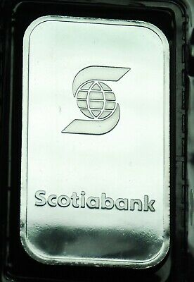 1 oz silver Bar from Scotiabank 999 Fine Silver Sealed