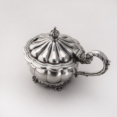 Ornate Mustard Pot Sterling Silver Birks Silversmiths