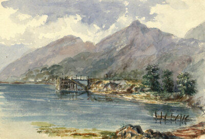 S.A. Cowan, View of Loch Lomond –Original late 19th-century watercolour painting
