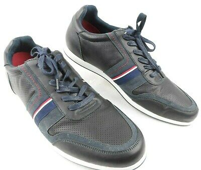 55d4683c655c2 Tommy Hilfiger Mens Sneaker Casual Shoes Black   Navy Red Style