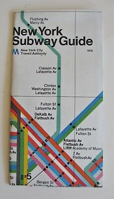 Massimo Vignelli Subway Map 1978.Vintage 1974 Massimo Vignelli New York Subway Map Guide Nycta