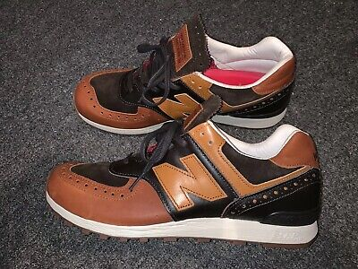 quality design 836f9 e3401 NEW BALANCE X Grenson M576GSN Sz 9.5 Brown Leather Made In England Rare  Phase 2