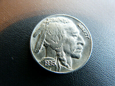 1936 Buffalo Nickel - Full Horn Visible - Great Details!