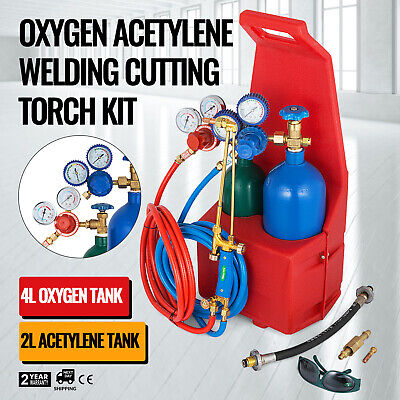 Oxygen Propane Welding Cutting Torch Kit Steel Professional Oxy STREET PRICE