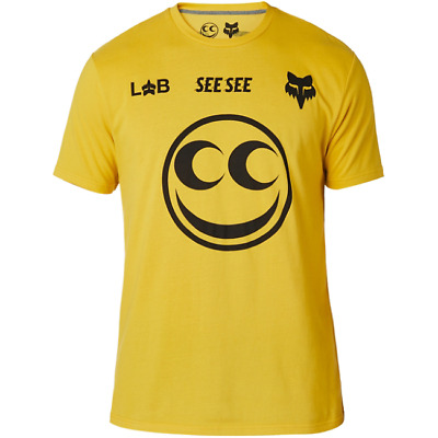 Maglia FOX LAB X SEE SEE AIRLINE TEE YLW TG M