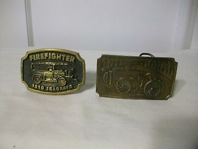 Brass Belt Buckles Lot of 2