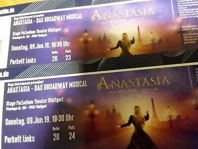 2 TOP Musical ANASTASIA 09.06.2019 Tickets Stuttgart Pfingstsonntag * Wert>200 €