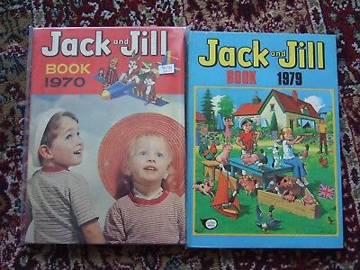2x Jack and Jill annuals 1970 & 1979 not price clipped