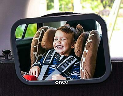 Onco Baby Car Mirror - Peace of Mind to Keep an Eye on Baby in a Rear Facing Chi