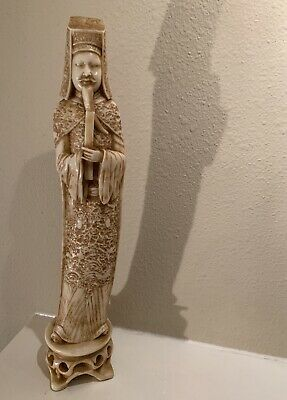Vintage Chinese Emperor Resin Composite Carved Statue Figure . Beautiful Detsils