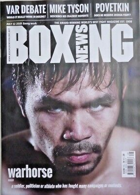 BOXING NEWS MAGAZINE 12th JULY 2018 ~ NEW ~