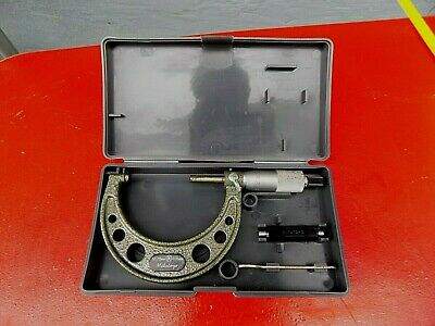 Mitutoyo 50-75 mm Outside Micrometer Tool 103-139 Carbide Tipped With Case,Japan