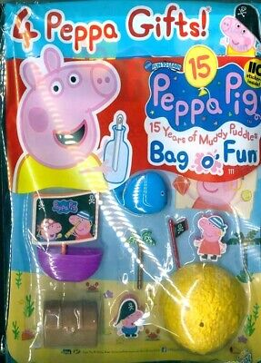PEPPA PIG BAG OF FUN MAGAZINE ISSUE #111 ~ NEW WITH 4 x PEPPA GIFTS ~