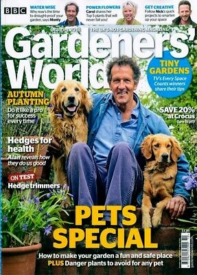 Bbc Gardeners World Magazine October 2018 ~ New  ~