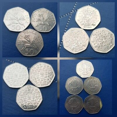134 X 50Pence Coins -Rare/Add to your collection