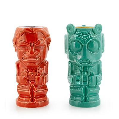Geeki Tikis Star Wars Han Solo & Greedo Mugs | Star Wars Tiki Style Ceramic Cups