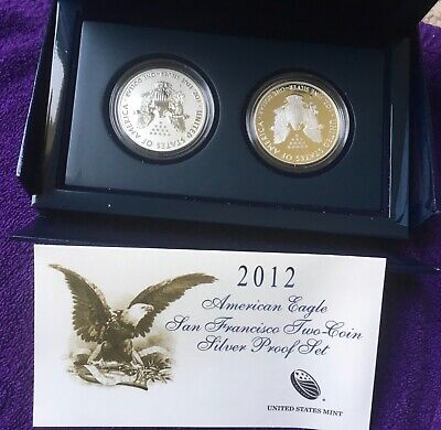 2012 American Eagle West Point 2-Coin PROOF Silver Set = US MINT - PROOF EAGLES