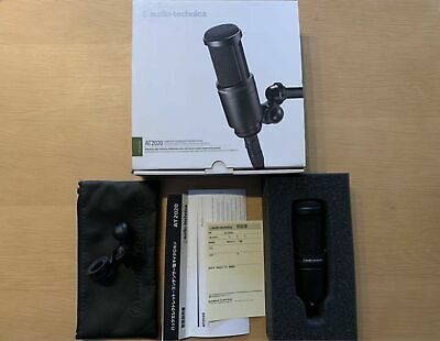 audio-technica AT2020 Cardioid Condenser Microphone Excellent from Japan