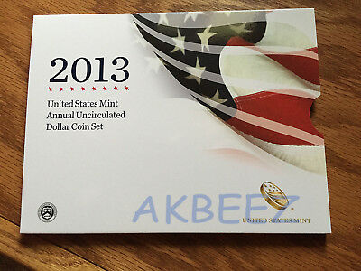 2013 Annual Uncirculated Dollar Set Burnished Silver Eagle XA5 * FREE SHIPPING *