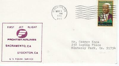 FORT STOCKTON TEXAS to San Angelo 1947 First Flight Cover AM 82