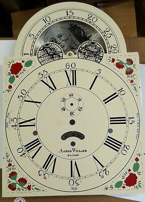 Sligh Aaron Willard grandfather clock dial 280x280x395 fits Kieninger movement