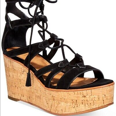 ccac25e4b0d FRYE WOMEN'S HEATHER Gladiator Wedge Sandal Sz 7.5 $ 298