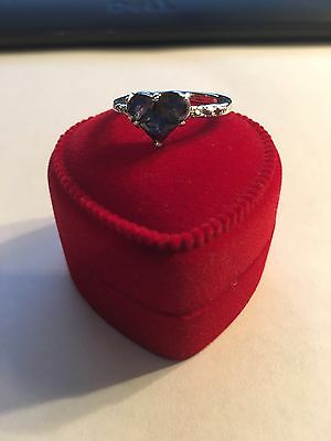 New Sterling Silver Plated Multi-Colored  Stone Ring Size 7-R242