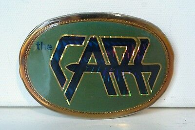 Vtg. The Cars Belt Buckle  1978  The Cars Music Rock Band Fans     (A4)