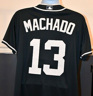 13485105cfe Manny Machado  13 San Diego Padres 50th Anniversary Patch Navy Jersey new w  tags