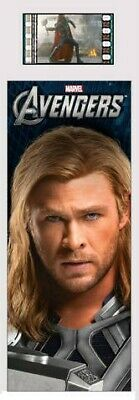 THE AVENGERS Marvel Superheroes Thor 2012 MOVIE FILM CELL and PHOTO BOOKMARK New