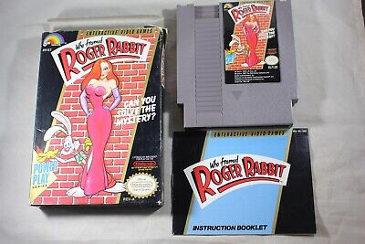 Who Framed Roger Rabbit (Nintendo NES) Complete in Box GOOD