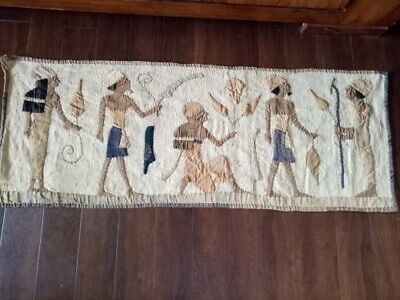 antique Egyptian tapestry-wall hanging, mural