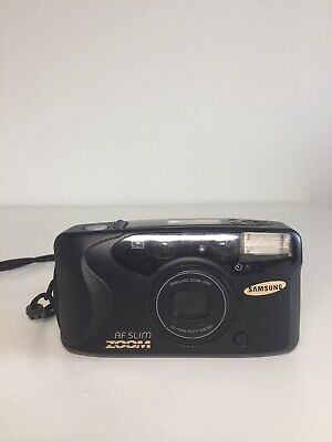 Samsung AF Slim Zoom 35mm Film 35-70mm Point & Shoot Camera Black