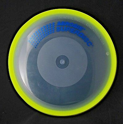 Vintage Aerobie Superdisc Yellow/Clear, Flying Disc Frisbee, USA