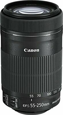 Canon telephoto zoom lens EF-S55-250mm F4-5.6 IS STM APS-C corresponding EF-S55