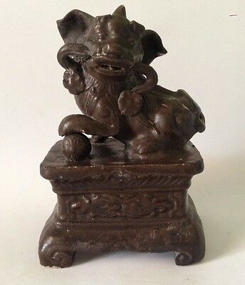 Chinese Ming Dynasty Brown Glazed Foo Dog 17th Century