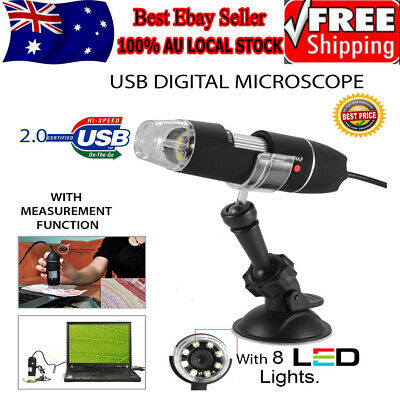 8LED 1000X USB2.0 Digital Microscope Endoscope Magnifier Electronic Video Camera