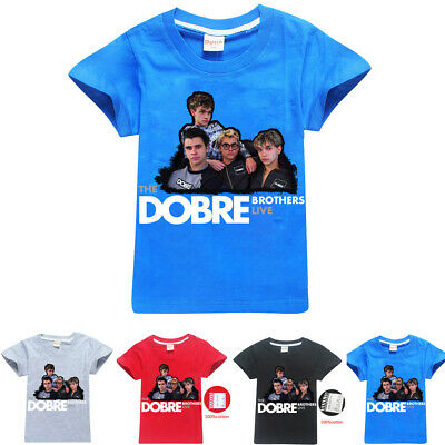 DOBRE BROTHERS MARCUS LUCAS T SHIRT KIDS boys girls youtuber ps4 space logan Top